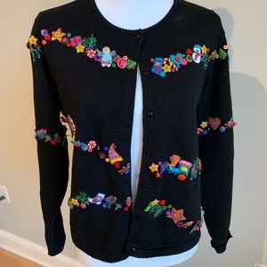Christmas cardigan sweater with bangels